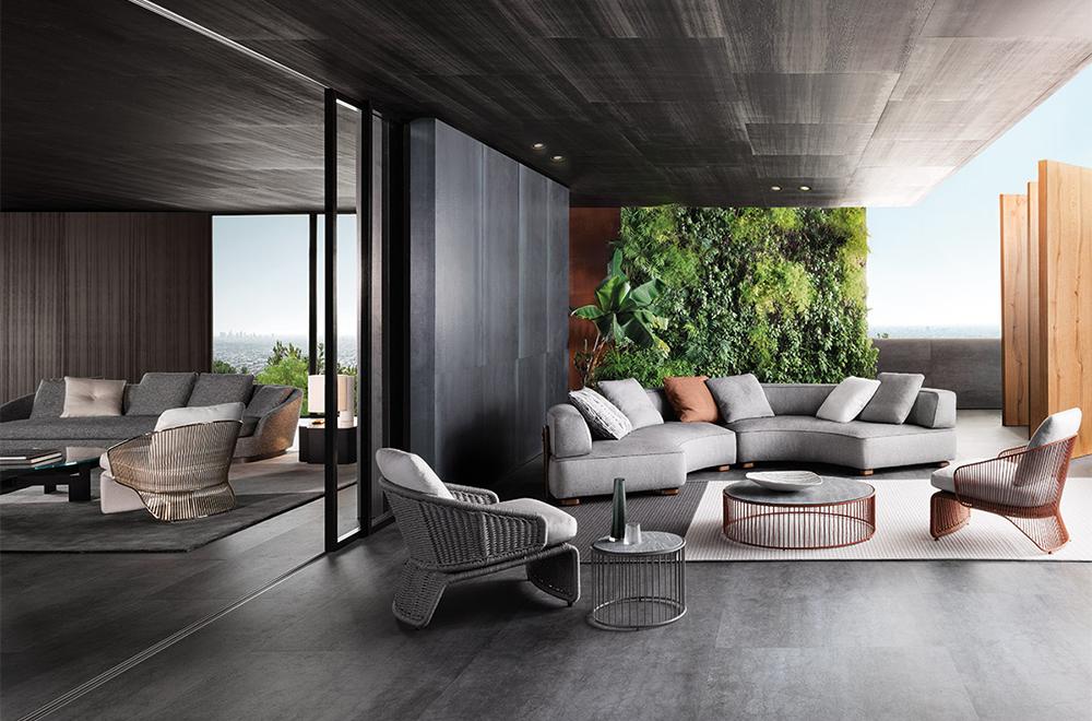 Minotti rivenditore autorizzato salvioni design solutions for Arredamento outdoor design