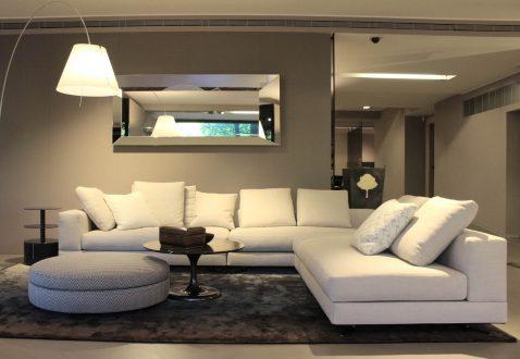 Divano White Sofa | Minotti - Salvioni Outlet - Sconto -40%