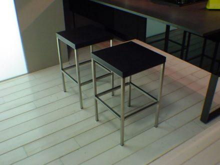 Sgabelli cucina con struttura in acciaio CR&S VARENNA - prezzi ...